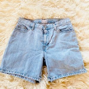 Calvin Klein | High-Waisted Light Washed Shorts